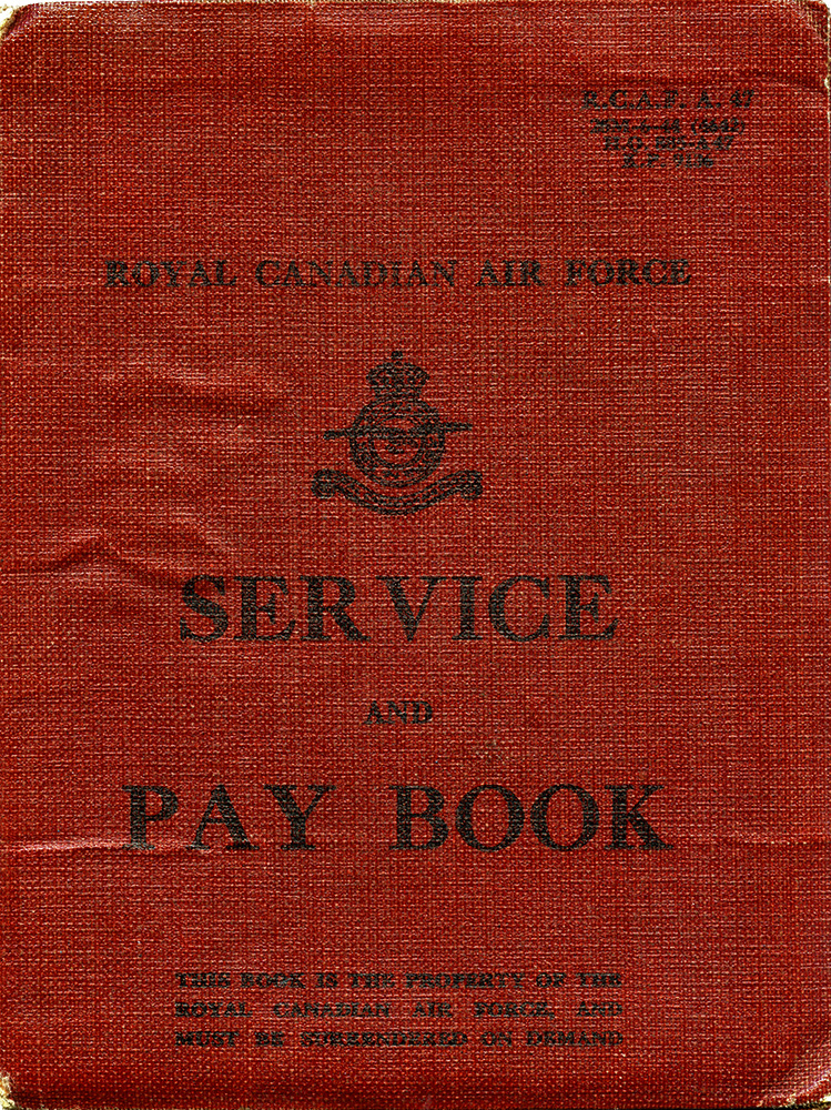 Dad, RCAF Service and Pay Book